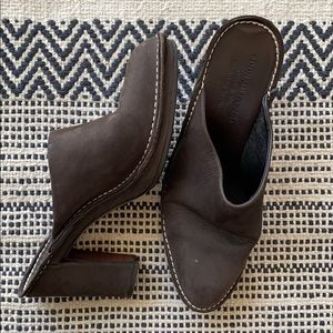 Donald J Pliner Brown Suede Heeled Mules